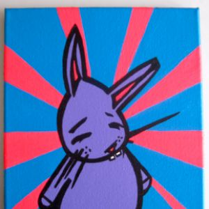 Color Burst bunny painting